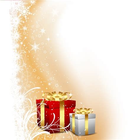 christmas gifts on abstract background vector free download