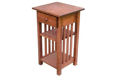 small accent table with drawer small mission phone stand end table with drawer