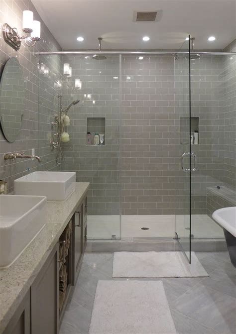 tile master bathroom ideas contemporary master bathroom with rain shower daltile rittenhouse square matte desert gray 3 in