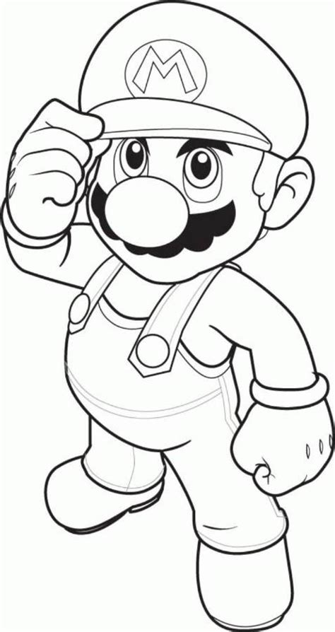 Blank Coloring Pages Mario | download and print mario coloring pages to print mario