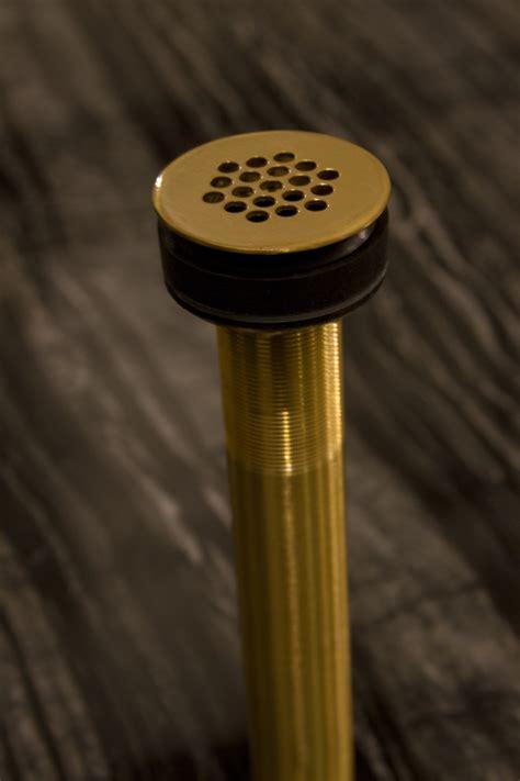 brass bathroom drain grid shape modern vessel drain satin brass