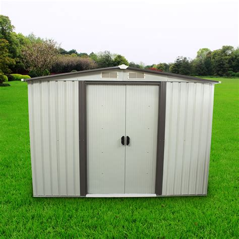 outdoor storage shed steel garden utility tool backyard lawn building set ebay