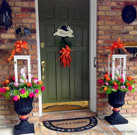 spring decorating ideas for your front door pastel meets bright in 2 spring bunny lanterns 171 the