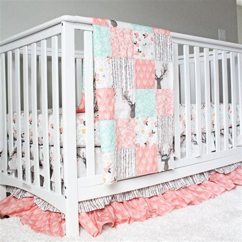 crib bedding woodlands fawn baby bedding baby