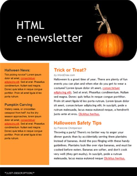 free electronic newsletter templates worddraw free newsletter templates