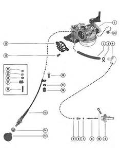 carburetor and choke assembly for mercury merc 110