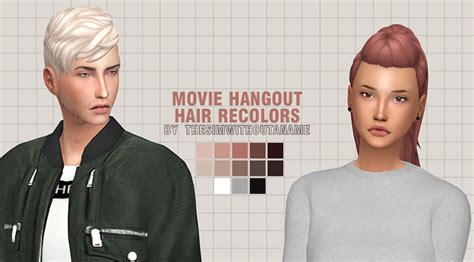 download hair the movie fixed star movie hangout stuff all hairs recolors sims