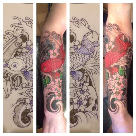 oriental tattoo studio japanese sleeve tattoo koi fish design tattooed in