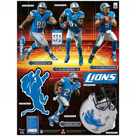 detroit lions power pack wall decal set shop fathead
