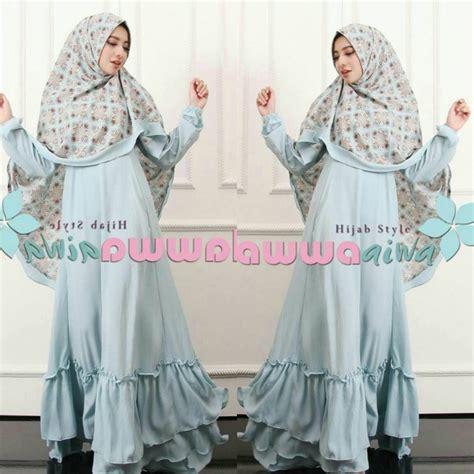 Baju Terusan Gamis Wanita Muslim Syari Aesha Syari 2in1 baju model gamis syar i aesha marocco hawwa aiwa