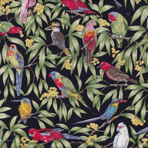 Quilt Panels Australia by Australian Birds Cockatoo Kookaburra Parrots Galah