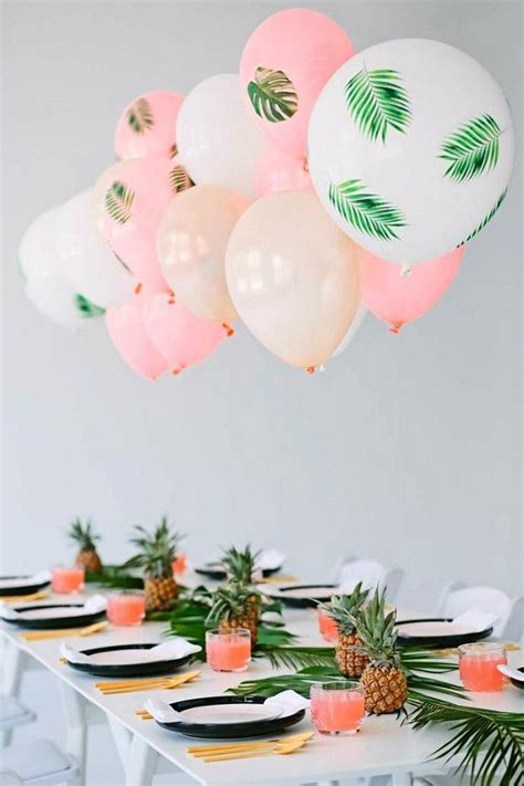 summer birthday party themes homemade tropical themed palm tree party pinteres