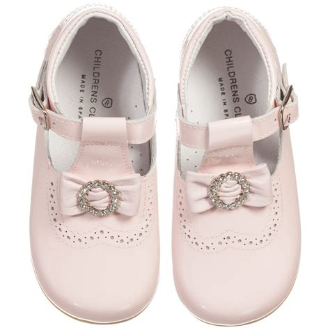 children s classics pink patent leather bow shoes