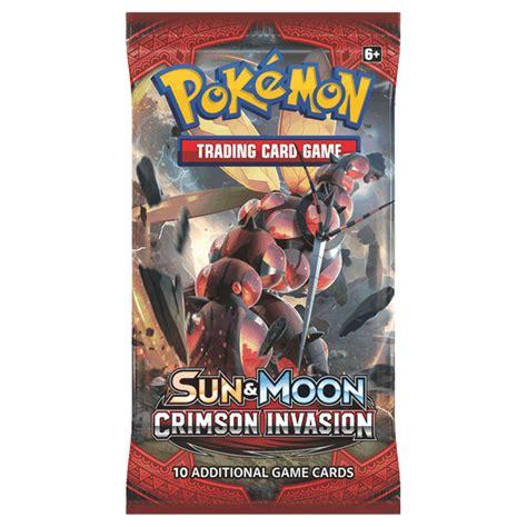 Tcg Sun Moon Booster Pack tcg sun moon crimson booster pack zing pop culture