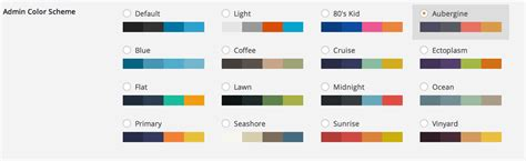 color themes admin color schemes wordpress plugins