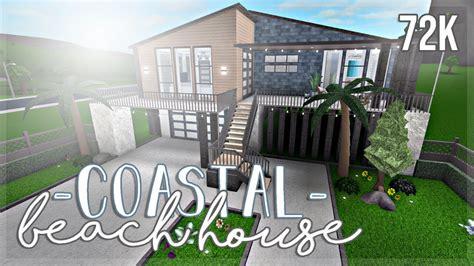 bloxburg coastal beach house  youtube