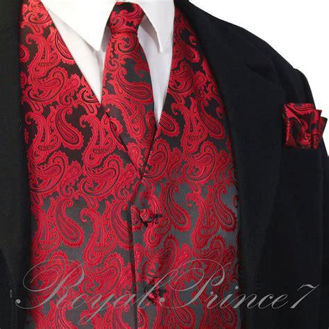Dress Kemeja Pocket Square black paisley tuxedo suit dress vest waistcoat neck