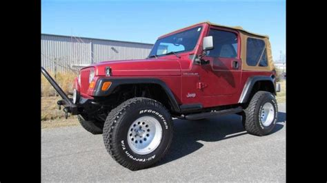 jeep wrangler maroon lifted 1998 lifted jeep wrangler se 2 door convertible for sale