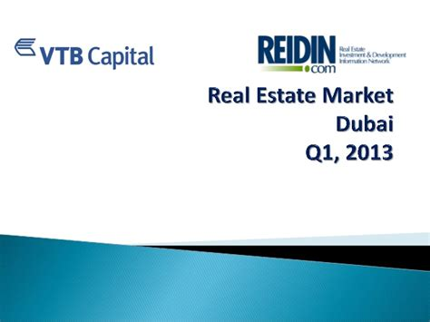 Mba In Real Estate Management In Dubai by Dubai Real Estate Market Report Q1 2013
