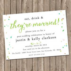 day after wedding invitation wording best 20 reception invitations ideas on wedding reception invitations elopement