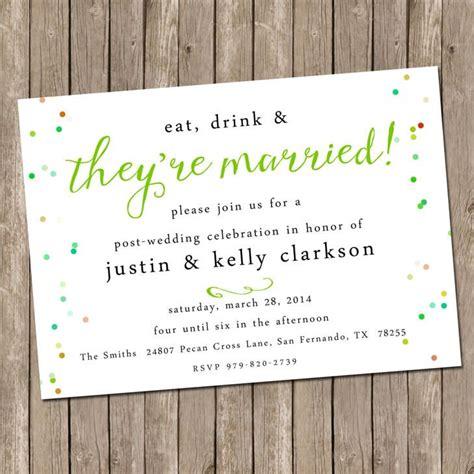 wedding day after brunch invitation wording best 25 wedding reception invitation wording ideas on