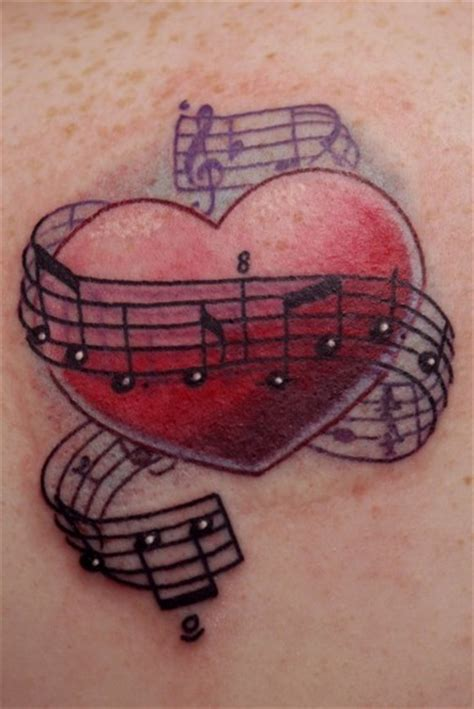 heart music note tattoo inspiration with notes uploaded