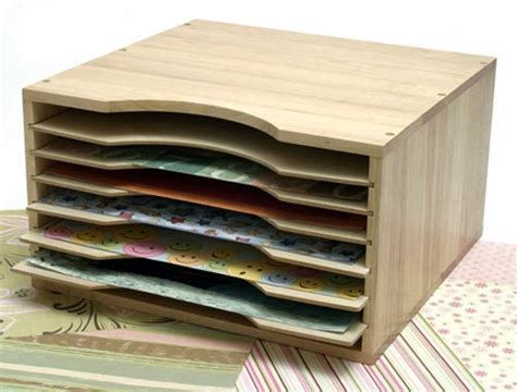How To Make Paper Organizer - wood scrapbook paper organizer in scrapbook organizers