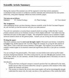 Essay Summary Exle by Article Summary Template 7 Documents In Pdf Sle Templates
