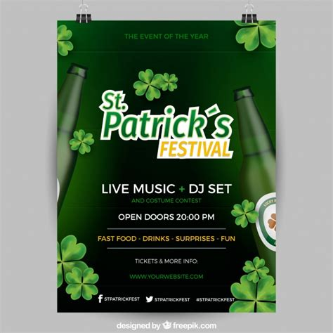 st patricks day flyer template psd design for photoshop