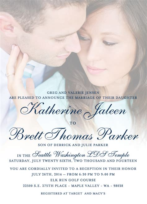 Wedding Announcements Utah by Katherine Brett Utah Announcements