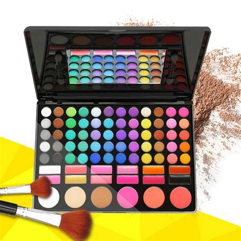Eyeshadow Kit professional 78 colors eyeshadow palette blush lip gloss makeup cosmetic kit ebay