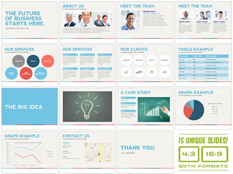 stock powerpoint templates universal pitch deck one powerpoint template on behance
