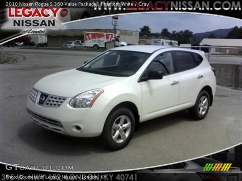 2010 nissan rogue white phantom white 2010 nissan rogue s 360 value package