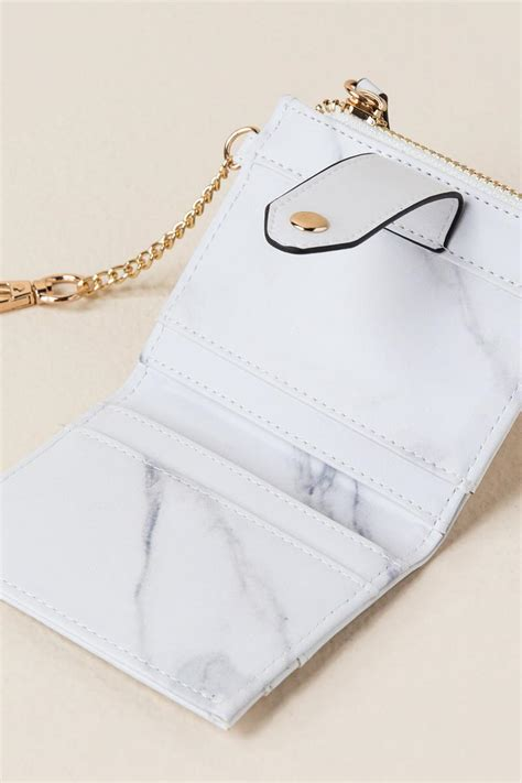 White Marble Card Wallet liliana marble card holder wallet s