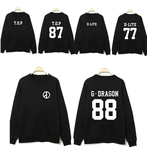 Sweater Hoodie Jaket Exo k pop bigbang big kpop clothes gd peripheral neck korean sweatshirt exo