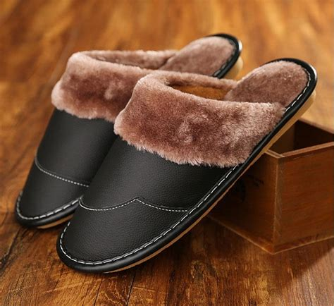 S66 Slippers genuine leather slippers shoes sandal warm
