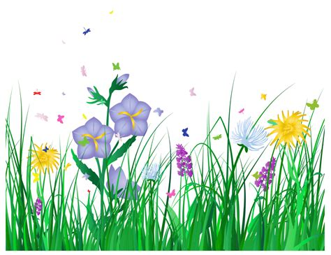 futon rahmen transparent grass and flowers clipart gallery