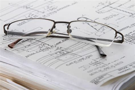 reading glasses and work papers stock photos image 14040673