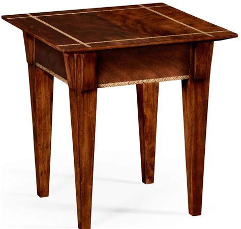 Mahogany Side Table Mahogany Side Table With Herringbone Inlay Detail