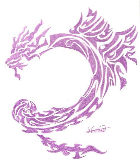 tattoo dragon purple purple dragon tattoo by mireie on deviantart