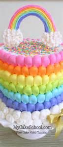 puffed rainbow cake free cake decorating my