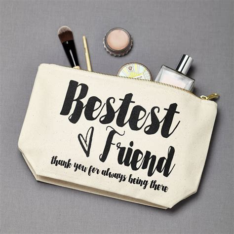 Pouch Make Up personalised bestest friend make up pouch by tillyanna