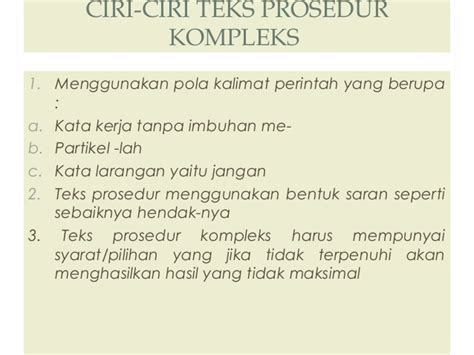 contoh teks prosedur membuat makanan dalam bahasa indonesia contoh teks prosedur dan unsur kebahasaanya