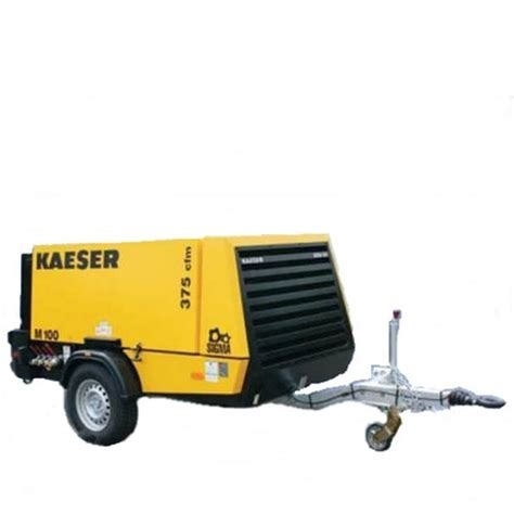 air compressor 375 cfm towable compressor rental station