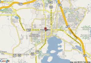 map of us holidays of central florida kissimmee