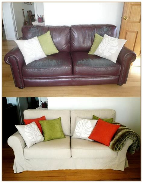 Leather Slipcovers For Sofas Leather Slipcovers For Sofa Sure Fit Stretch Leather 2