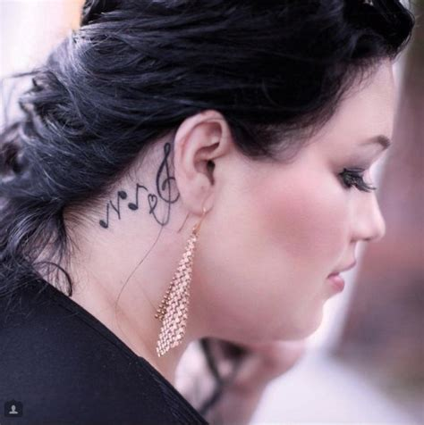 bjork tattoo behind ear music symbol tattoo behind the ear tattoos pinterest