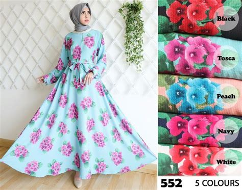 Gamis Motif Tulip 888 best images about baju gamis terbaru on models polos and satin