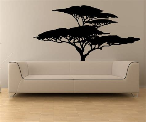 African Wall Stickers items similar to vinyl wall decal sticker african tree