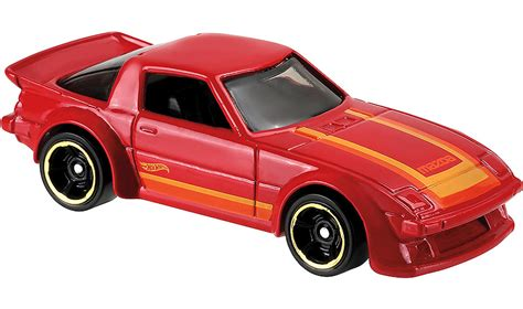 Hotwheels Reguler 95 Mazda Rx 7 Blue minicars get your then now wheels mazda rx 7s this saturday japanese nostalgic car